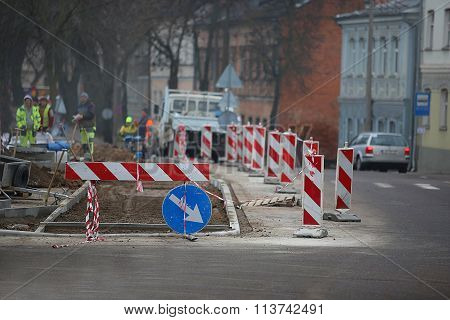Road Repairs And Signs