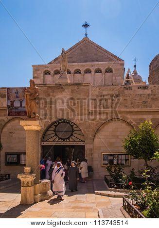Bethlehem, Pa, Israel, July 12, 2015: The City Of Bethlehem. The Church Of The Nativity Of Jesus Chr