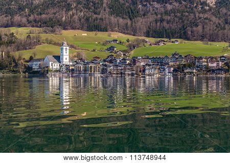Wolfgang Lake And St.wolfgang Village-austria