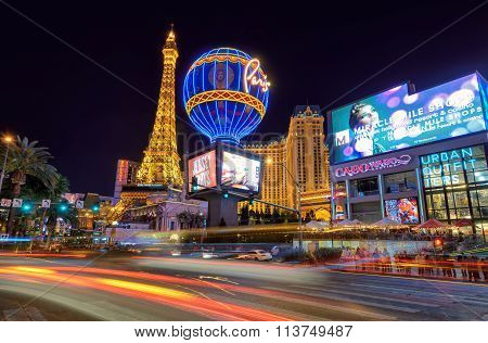 LAS VEGAS - MARCH 26 : View of the strip on March 26 , 2015 in Las Vegas.