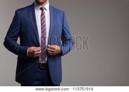 Successful businessman in elegant new formalwear