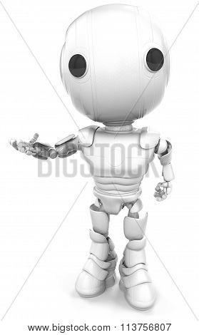 Robot Looking Viewer Hand Gesture