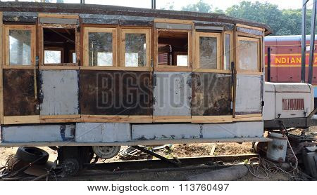 Antique rail engine, wheels, bogie