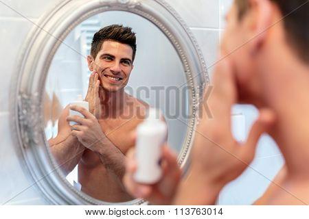 Handsome Man In Mirror