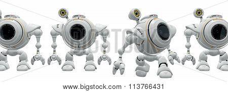 Robot Web Cam Birth Of Technology Concept