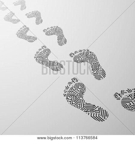 Human Foot. Stock Illustration.