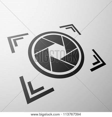 Camera Aperture. Stock Illustration.