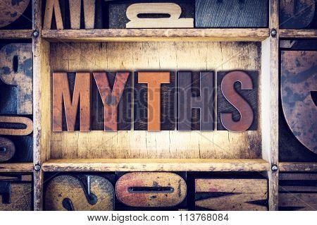Myths Concept Letterpress Type
