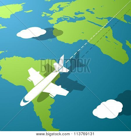 Travel Background. Stock Illustration.
