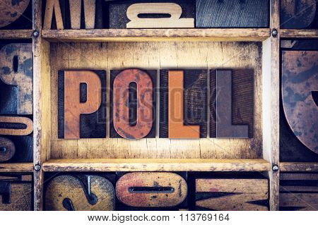 Poll Concept Letterpress Type
