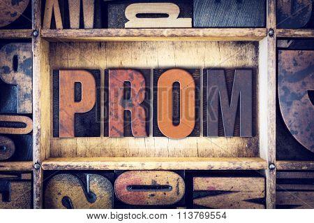 Prom Concept Letterpress Type