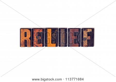 Relief Concept Isolated Letterpress Type