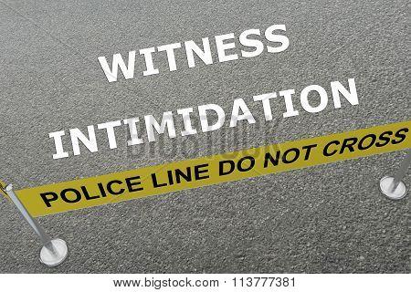 Witness Intimidation Concept