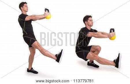 Kettlebell, Pistol Squat, Exercise