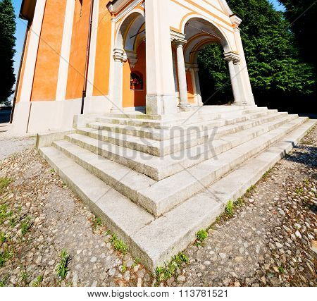 Exterior Old Architecture In Italy Europe Milan Religion       And Sunlight