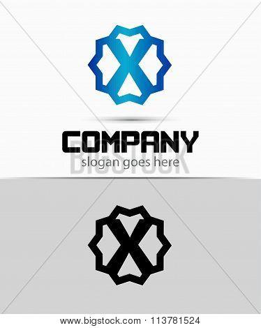 Letter x Alphabetical Logo Design Concepts