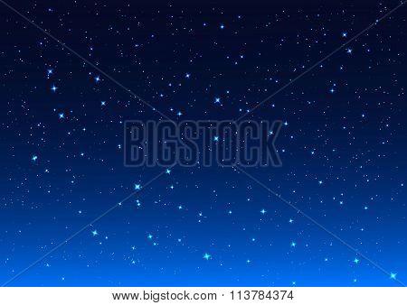 Night sky. Stars in night sky