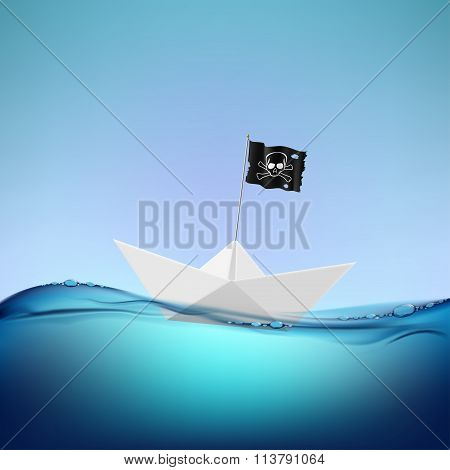 Pirate Flag. Stock Illustration.