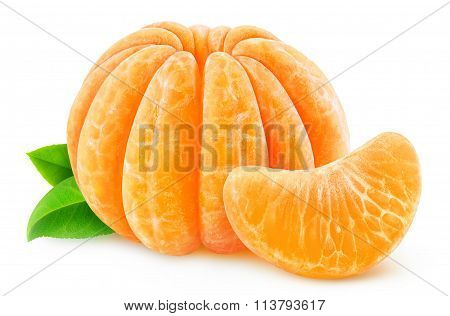 Peeled Tangerine Or Clementine