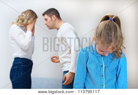 Parents Quarreling At Home, Child Is Suffering.