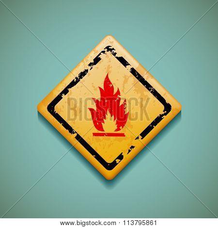 Warning Sign. Stock Illustration.