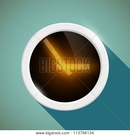 Round Clock. Stock Illustration.