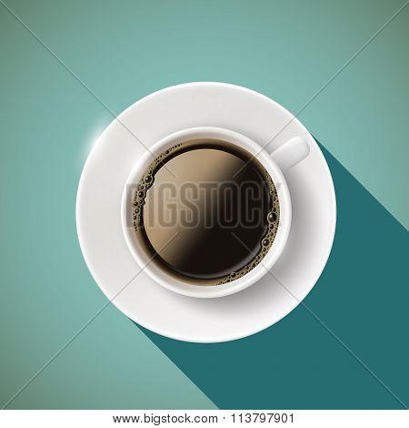 Icon Coffee. Stock Illustration.