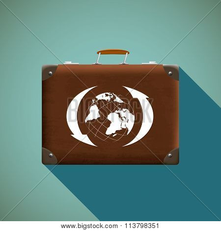 Suitcase. Stock Illustration.