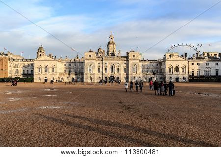 Horse Guards Parade with tourists in London