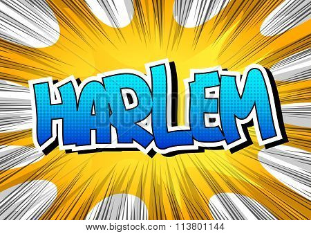 Harlem - Comic Book Style Word.