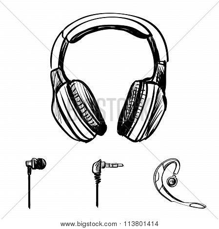 Doodle style headphones