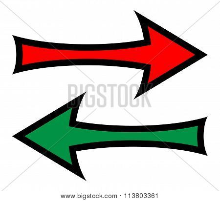 Left And Right Direction Arrows