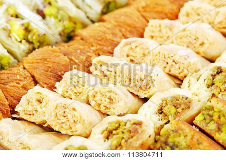 Arabic sweets with nuts