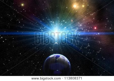 Exoplanets In Outer Space.