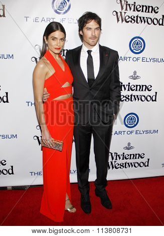 Ian Somerhalder and Nikki Reed at the Art Of Elysium's 9th Annual Heaven Gala held at the 3LABS in Culver City, USA on January 9, 2016.