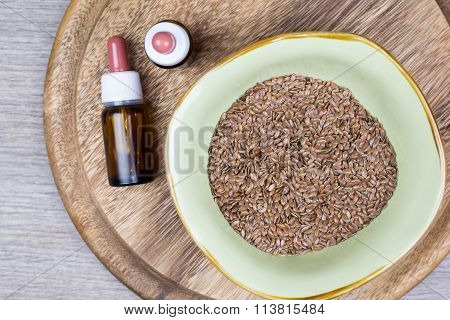 Flaxseed With Jar
