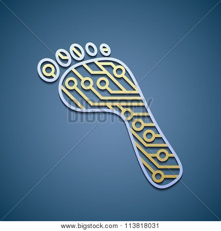 Foot With A Chip