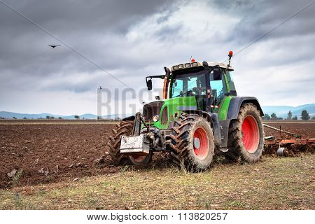 Karlovo, Bulgaria - August 22Th, 2015: Tractor Fendt 716 Vario. Fendt Is A German Manufacturer Of Ag
