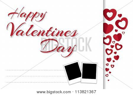 Happy Valentines Day Greeting Card In Vector Eps10
