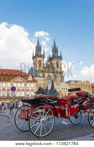 Horse Carriage In Prague - Czech Republic
