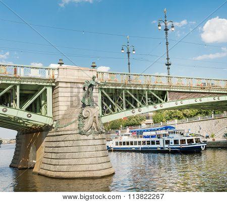 Ferry Boaty On Moldava River - Prague- Czech Republic