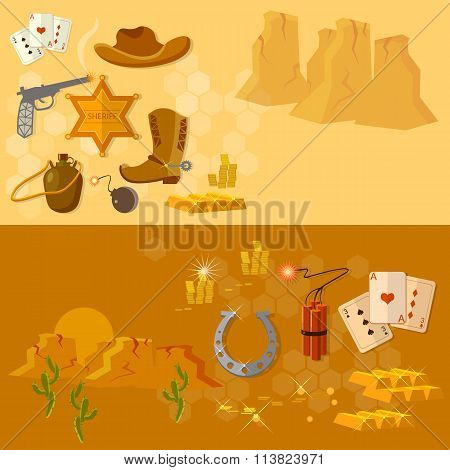 Wild West Collection Cowboy Banners