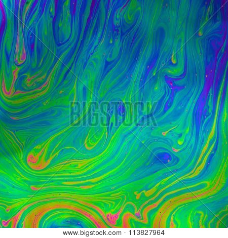 Psychedelic multicolored soap bubble abstract background