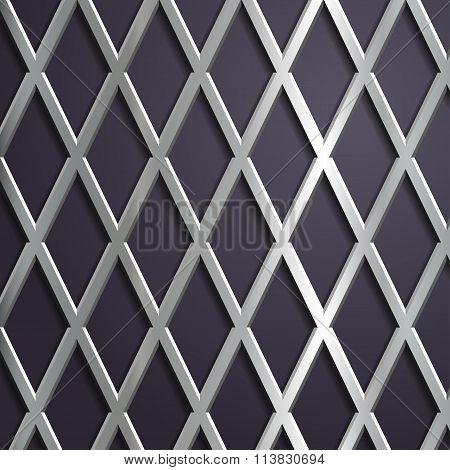 Steel Geometric Background.