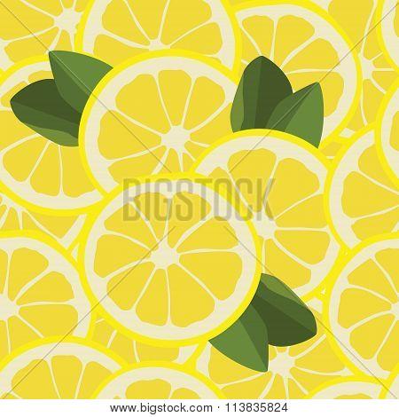 Seamless Pattern With Lemons