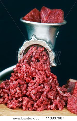 Mincer Make Fresh Minced Beef Meat