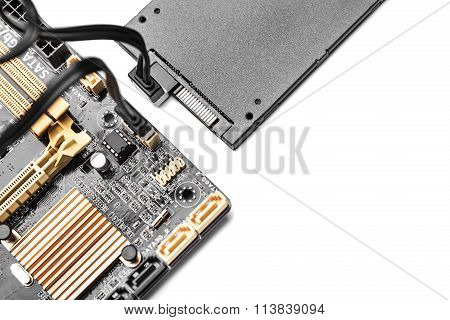SSD drive isolated