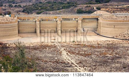 Effects Of California Drought  On Bradbury Dam And Lake Cachuma