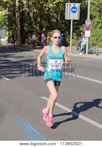 Hilary Dionne at Berlin Marathon 2015