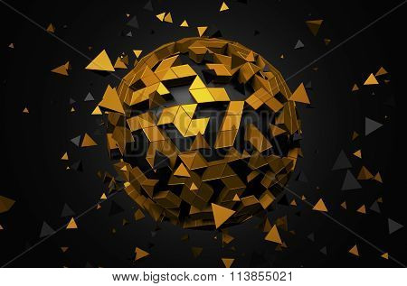 Rendering of Sphere With Chaotic Particles.